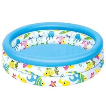 Basen dla dzieci w kolorowe rybki 102X25 cm