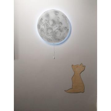 Księżyc, lampka nocna LED księżyc, lampka ścienna