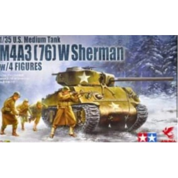 Sherman M4 Tamiya Asuka z figurkami