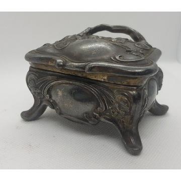 Art Nouveau stare puzderko pudełko na biżuterię