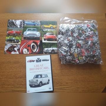 Puzzle brytyjskie klasyki motoryzacji 1000 szt+DVD