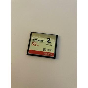 SanDisk CompactFlash 32GB 120 MB/s używana