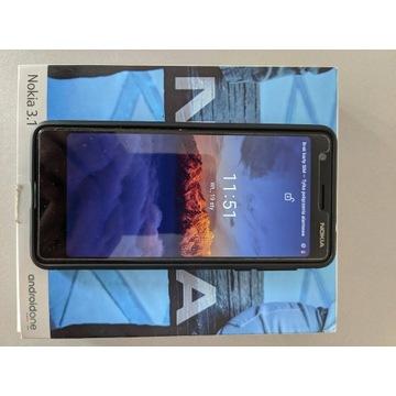 komplet Nokia 3.1 + folia + etui