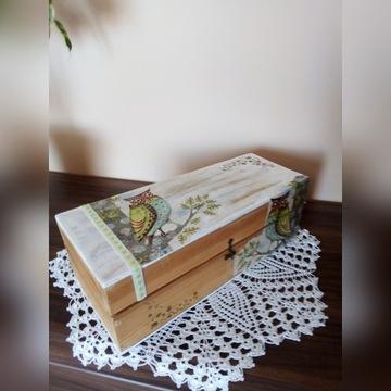 skrzynka(pudełko) drewniane ozdobiobe decoupage