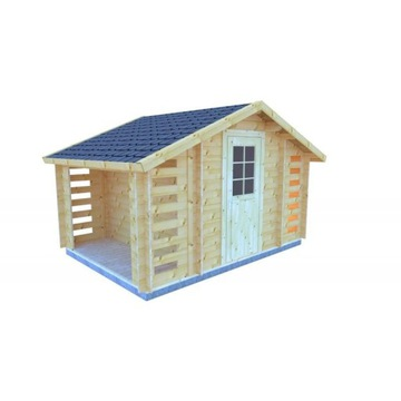 Domek narzędziowy- KOKOSZKA B z drewutnią 410x280