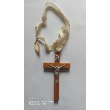 Drewniany krucyfiks. Kupiony w Gd.Oliwie w 1966 r.