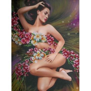 Obraz haftowany - haft koralikami - Wiosna
