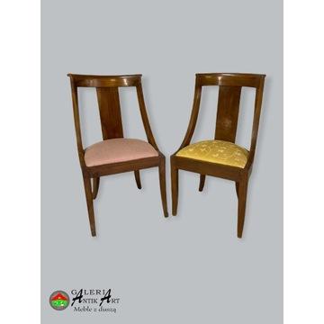 2 ORYGINALNE krzesła gondole Empire Francja XIX w.