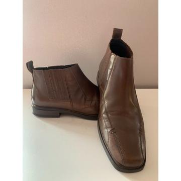 Męskie buty zimowe botki 43 skóra Lasocki