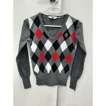 Sweterek elegancki w romby Lindex r.140