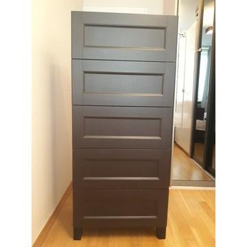 Ciemnobrązowa komoda z 5 szufladami IKEA używana