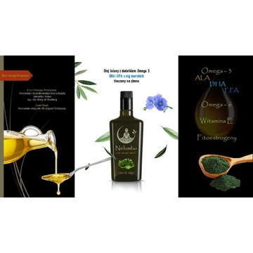 Olej lniany z dodatkiem omega 3 (DHA i EPA) 750ml
