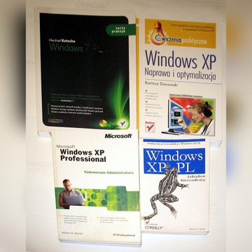 WINDOWS XP / 7 - cztery książki