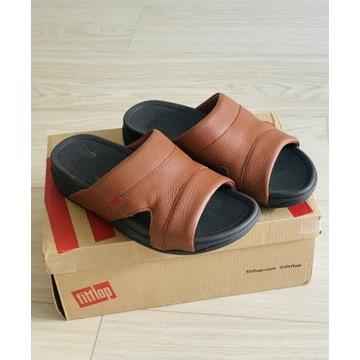 Sandały klapki męskie brązowe 41
