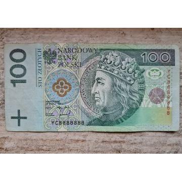 Banknot Solid seria zastepcza YC8888888
