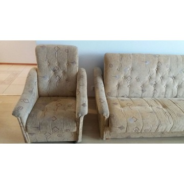 komplet wypoczynkowy-wersalka+dwa fotele