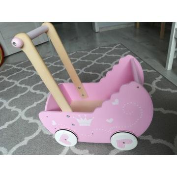 Wózek drewniany dla lalek pchacz lelin