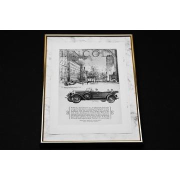 LINCOLN - niemal 100-letnia reklama samochodu