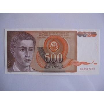 Jugosławia - 500 Dinara - 1991 - P109 - St.1