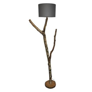 Lampa Faro-Lampa podłogowa z gałęzi, drewna