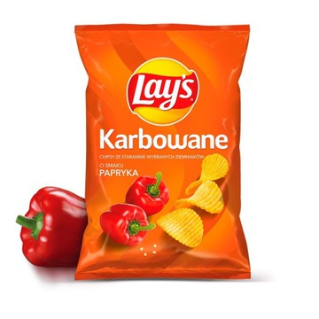 CHIPSY LAYS PAPRYKA KARBOWANE CZIPSY LAY'S 130G