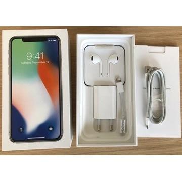iPhone X 256GB biały/srebrny