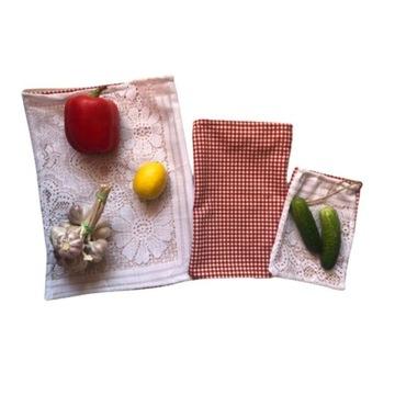 Eko Worki na warzywa i pieczywo 3 szt, zero waste