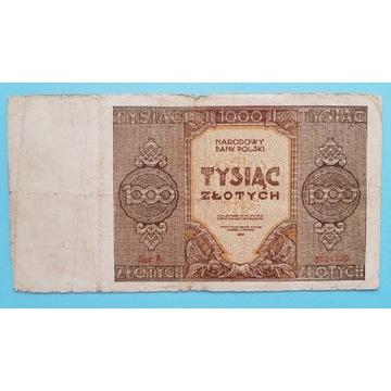 1000 złotych 1945 rok Seria A