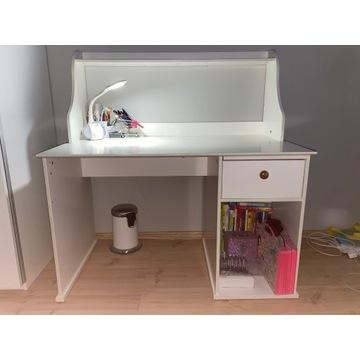 Biurko IKEA białe 120/70/125 z szufladą i z półką