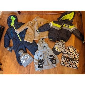 Zestaw zimowy dla chłopca - kurtki, czapki