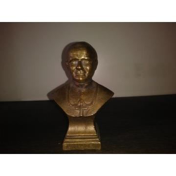 Jan Paweł II - popiersie z mosiądzu