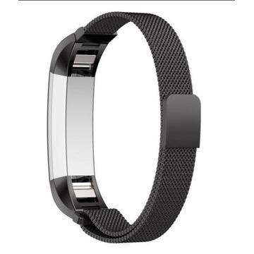Pasek Fitbit Alta Hr bransoleta metalowa czarna