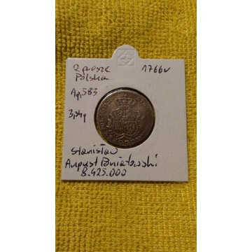 2 srebrne grosze 1766