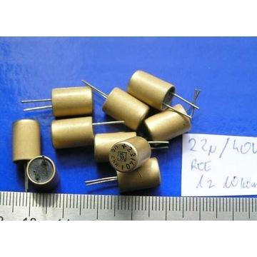 kondensatory ROE 22uF 40V  komplet 10 szt