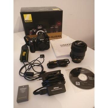 Nikon D5000 18-55 VR Kit 6896 zdjęć + osłona