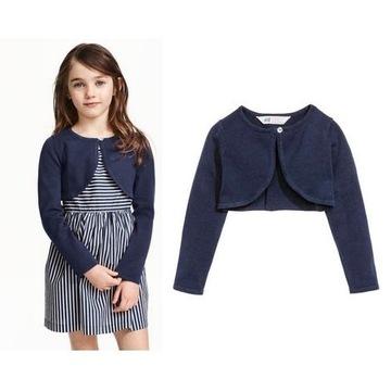 H&M sweterek bolerko 134 140