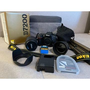 Lustrzanka Nikon D7200 + 18-140mm + 50mm !OKAZJA!