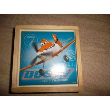 drewniane klocki samoloty Dusty