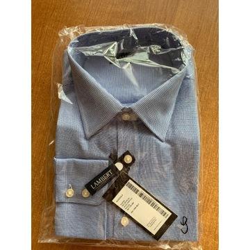 Niebieska koszula męska Lambert 44/176-182