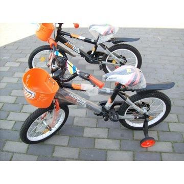 16cali rower Pomarańczowo-czarny Hudson kids bike