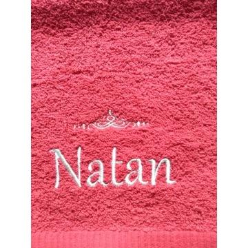Ręcznik 30x50 z haftem imienia Natan