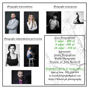 Usługi Fotograficzne, Sesja studyjna - Promocja