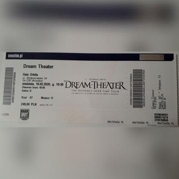 Bilet na koncert zespołu Dream Theater