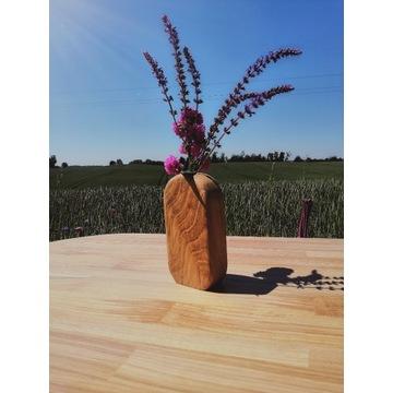 Wazon drewniany minimalistyczny