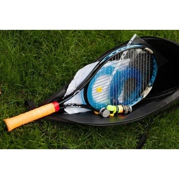 Rakieta tenisowa  PRINCE BLUE 100, naciągi, owijki
