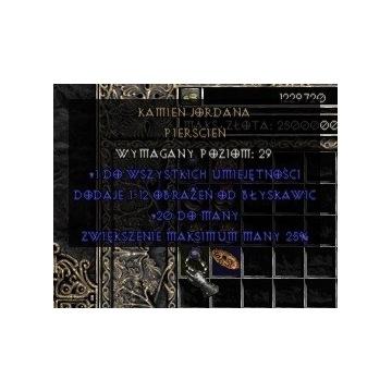 Kamień Jordana / Soj - Diablo 2 LOD NOWY LADDER