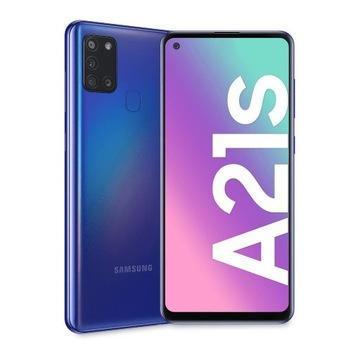 Smartfon Samsung Galaxy A21s niebieski