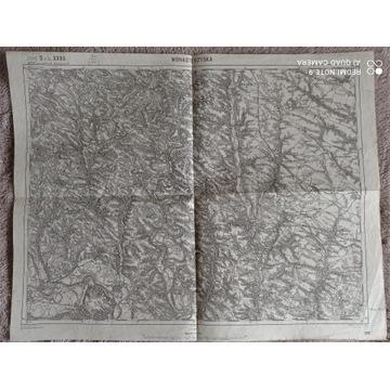 Mapa z 1914 r : Monasterzyska, Hnilcze, (1: 75000)