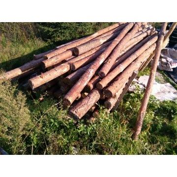 Stemple budowlane stropowe sosnowe 2.5 metra