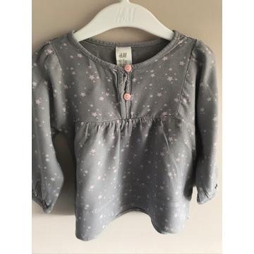 Koszula bluzka H&M szara gwiazdki rozm. 80